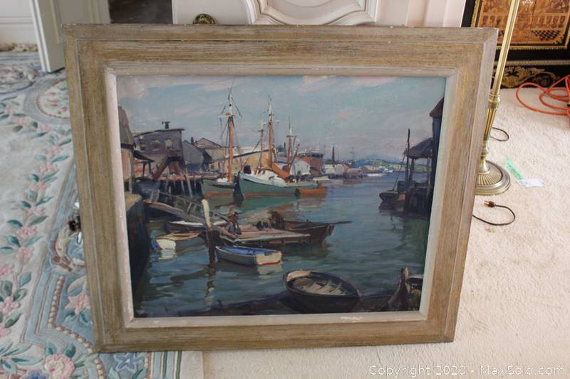 Signed Original Emile Gruppe Painting On Canvas